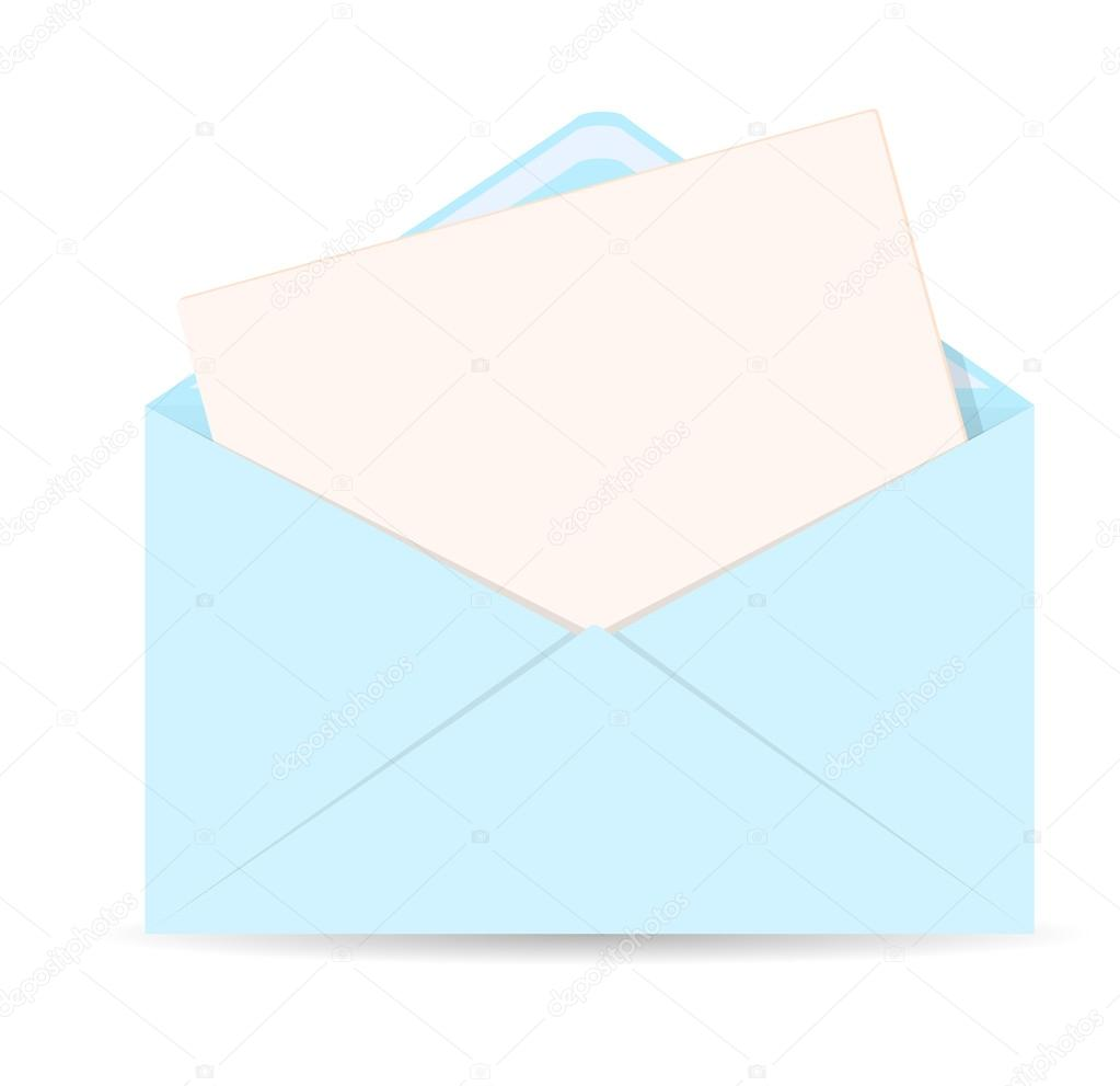 open envelope with letter vector icon - eps 10 — stock vector