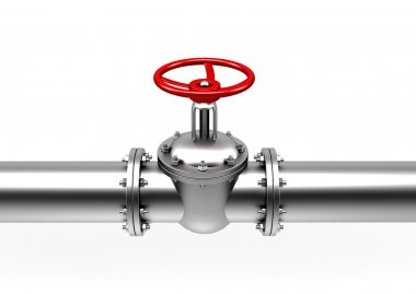 pipes valve connection - isolated
