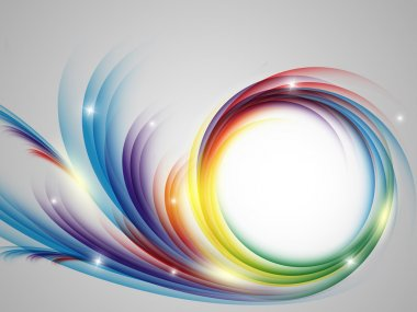 Colorful vector rainbow backdrop with copy space. Eps10 stock vector