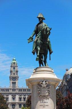King D.Pedro IV monument, Liberdade square, Porto