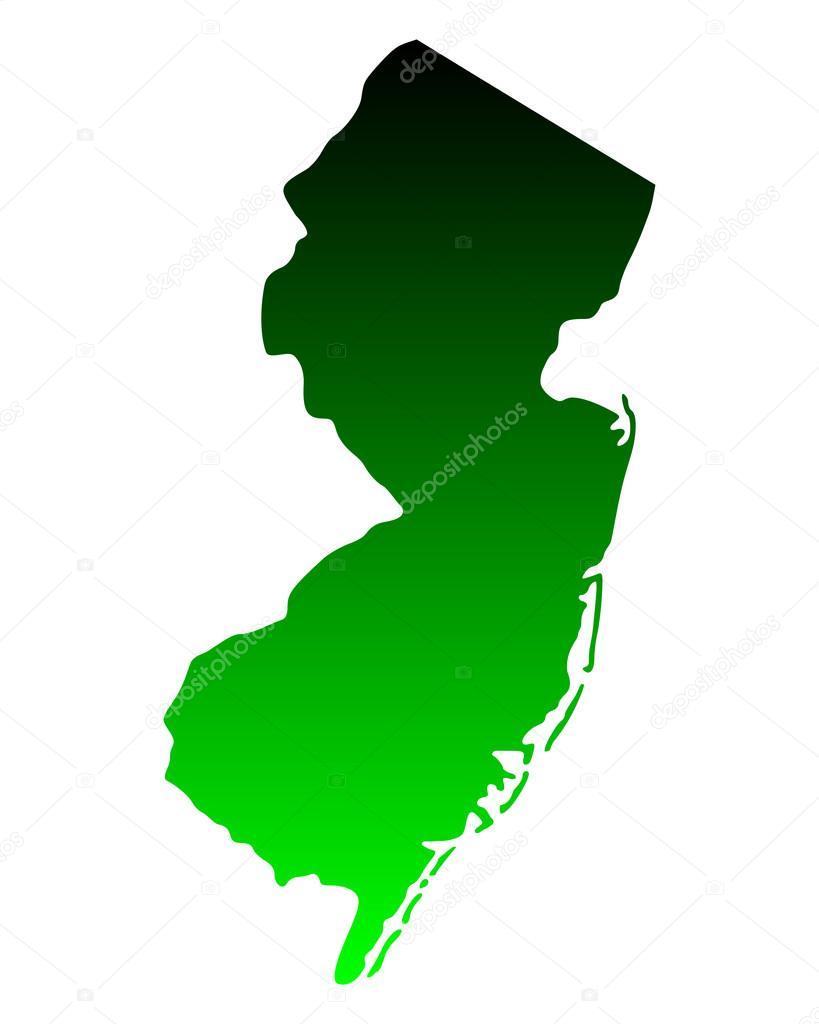 Mapa De Nueva Jersey Vector De Stock Rbiedermann - Mapa de new jersey