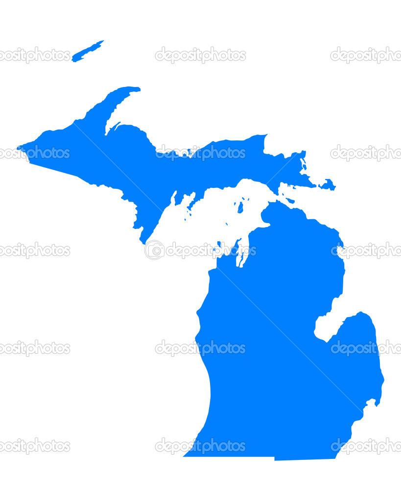 Mapa De Michigan Archivo Imágenes Vectoriales Rbiedermann - Mapa de michigan