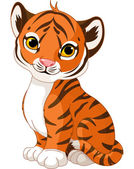 Fotografie Cute tiger cub