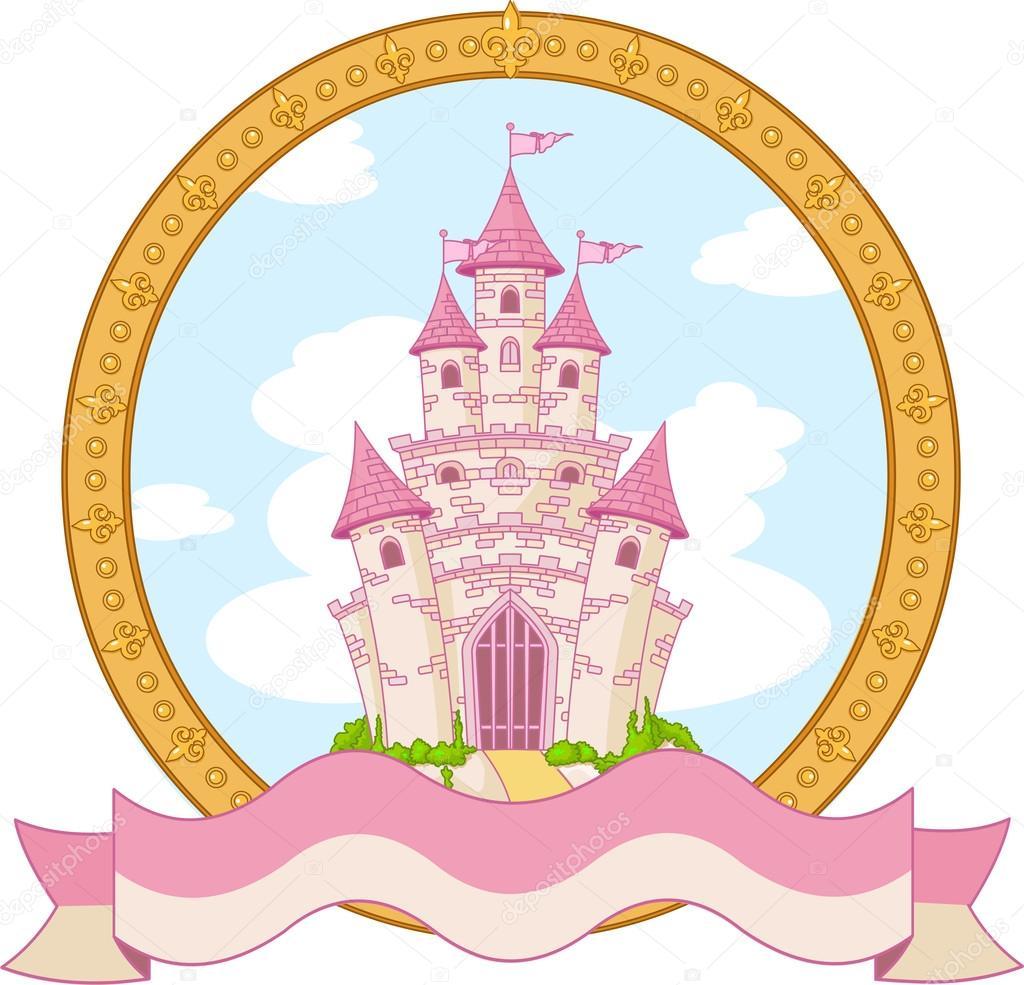 Dessin du ch teau de princesse image vectorielle for Image chateau princesse