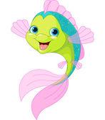 Fotografia pesce simpatico cartone animato