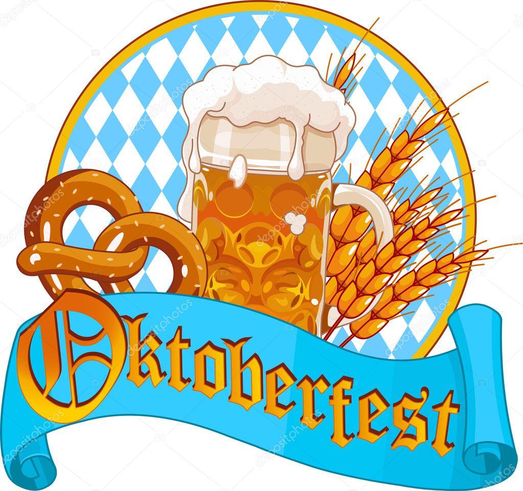 oktoberfest celebration design — stock vector