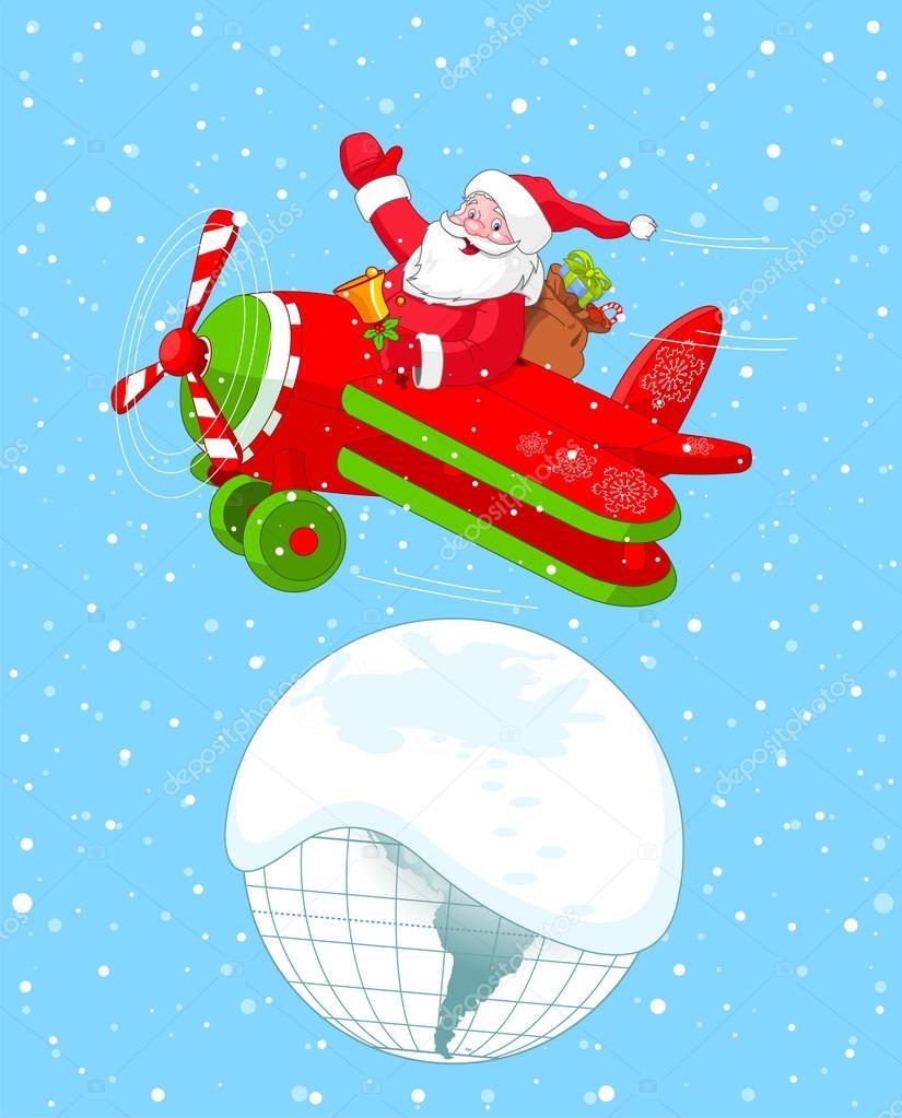 Стала мамой, картинки дед мороз на самолете для детей