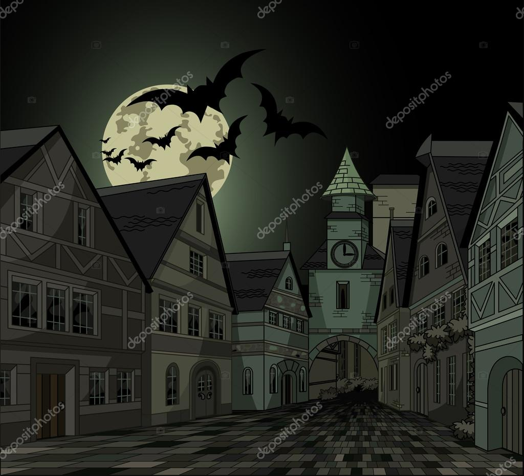 Spooky night at town