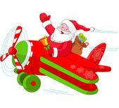 Fotografie Santa Flying His Christmas Plane