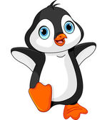 Photo Cartoon baby penguin