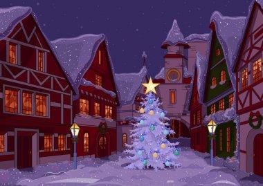 Christmas night at town