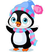 Photo Cute winter penguin