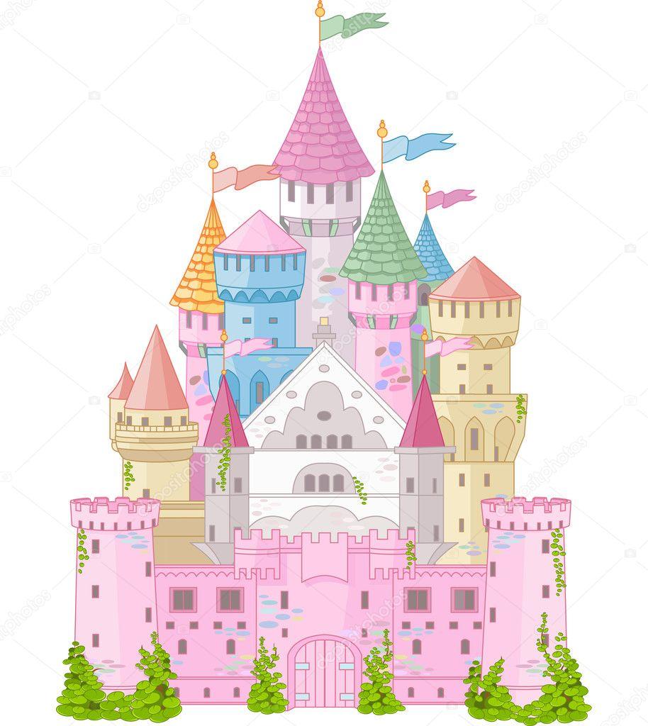 замок картинки сказочный