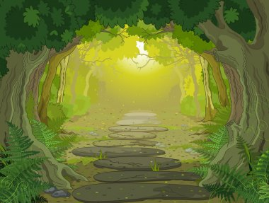 Magic landscape entrance