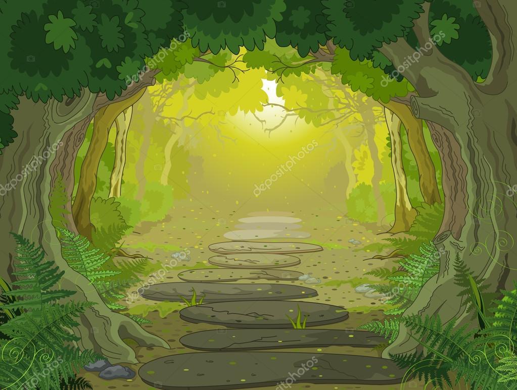 Magic landscape entrance