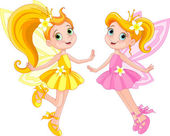 Photo Two cute fairies in fly