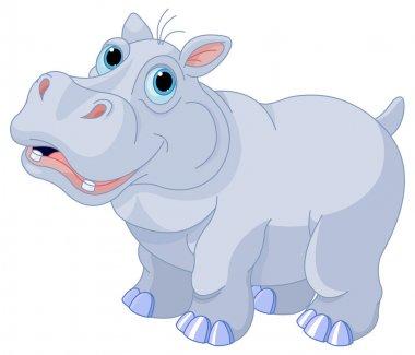 Illustration of cute hippo