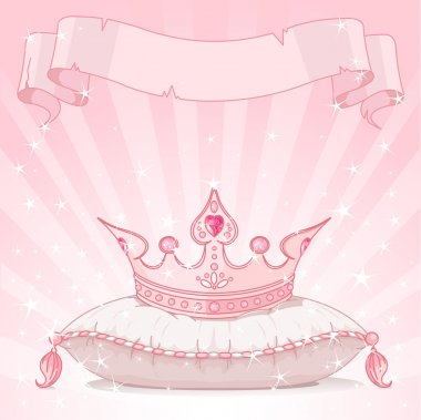 Princess crown on pillow