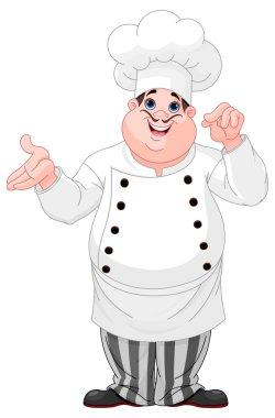 Cartoon cheerful cook