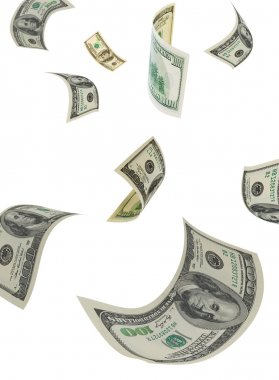 Dollars in air, vertical.