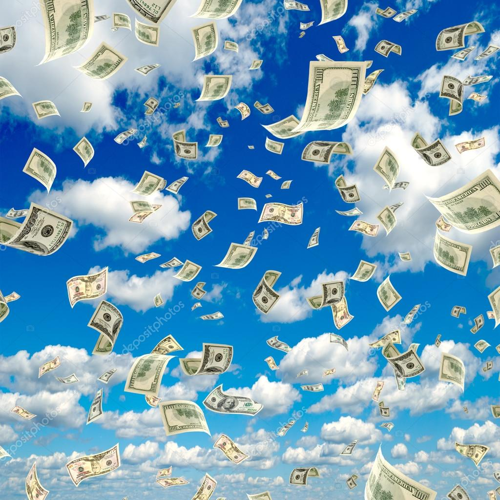 Money falling from the sky. ⬇ Stock Photo, Image by © rrraum #45941381