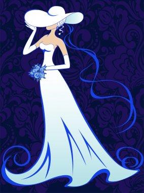Bride on a dark background