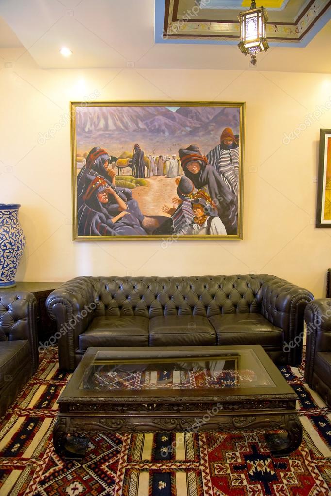 Tradition arabische Lobby Interieur — Redaktionelles Stockfoto ...
