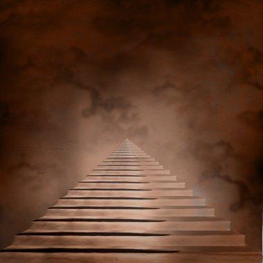 "Картина, постер, плакат, фотообои ""лестница, приводящая к небесам или аду. свет в конце бочки"", артикул 19175247"