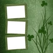Photo Design for St. Patricks Day. Flower ornament.