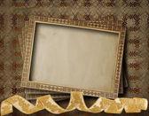 Fotografie alte grunge frames auf dem alten papierhintergrund