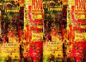 grunge pozadí abstraktní s staré potrhané plakáty