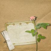 Vintage vecchia cartolina per Congratulazione con Rose