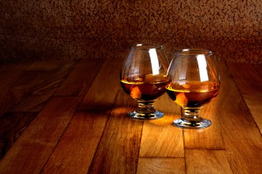 Two goblets of brandy