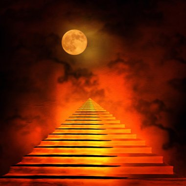 Staircase leading to heaven or hell.