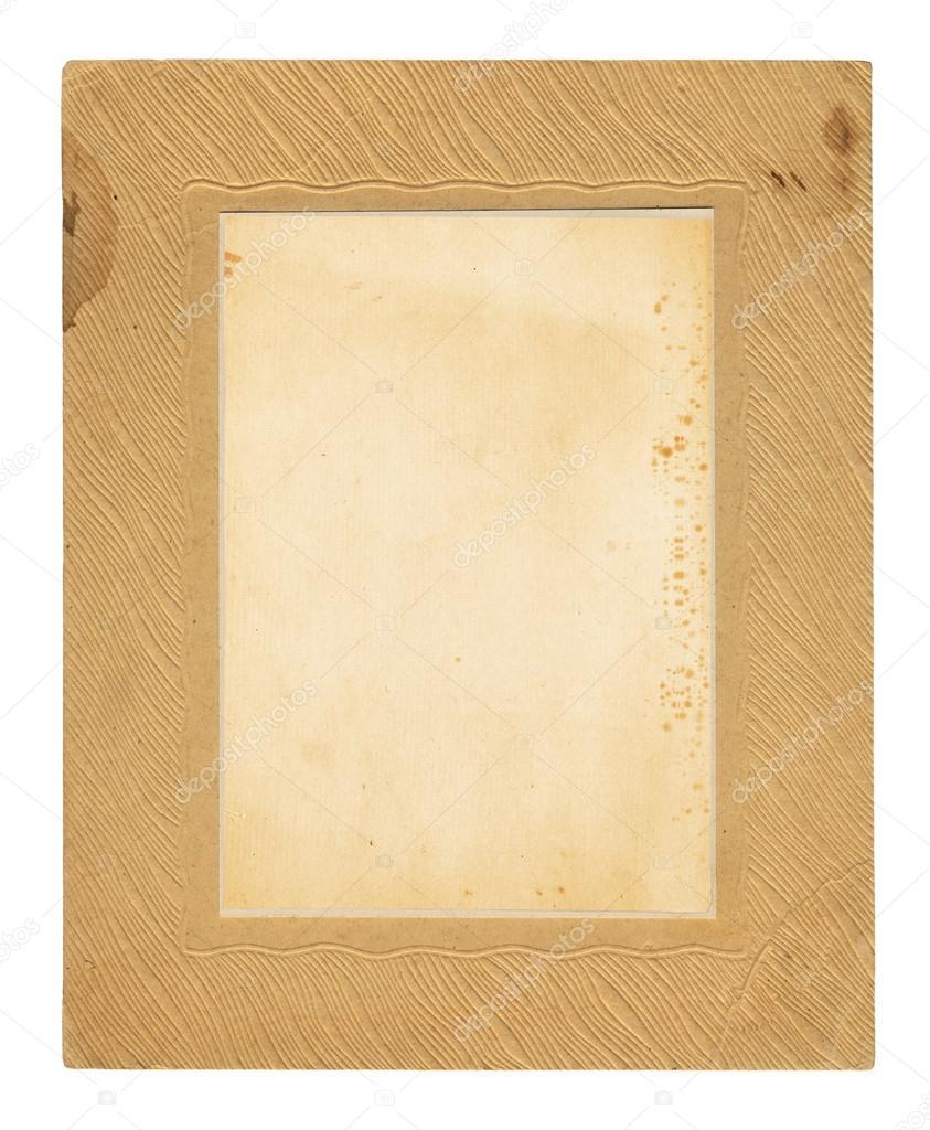 Old embossed cardboard frame — Stock Photo © Loraliu #46577357