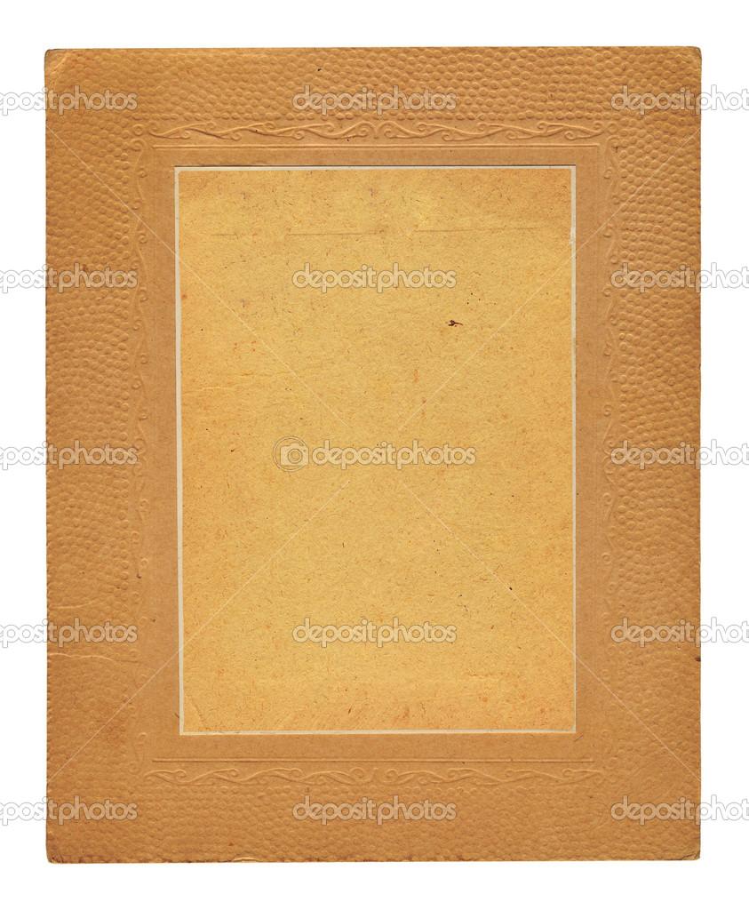 alte geprägte Pappe frame — Stockfoto © Loraliu #46577419