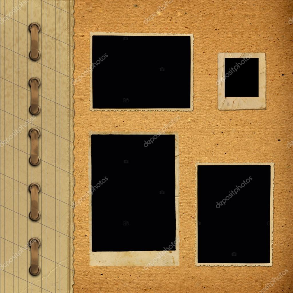 alte Vintage Album mit Papier Rahmen — Stockfoto © Loraliu #46907675