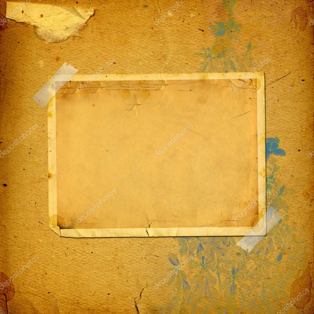 Old vintage album with paper frames — Stock Photo © Loraliu #46907761