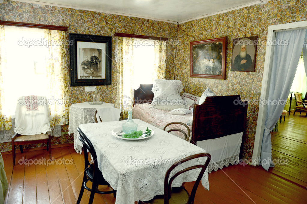 Russian Old House Interior Stock Editorial Photo