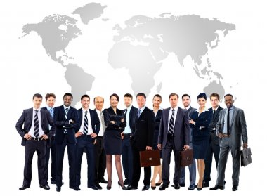 Large group of business people. Isolated over white
