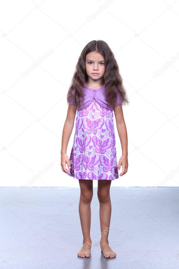 portrait of pretty little girl stock photo arkusha. Black Bedroom Furniture Sets. Home Design Ideas