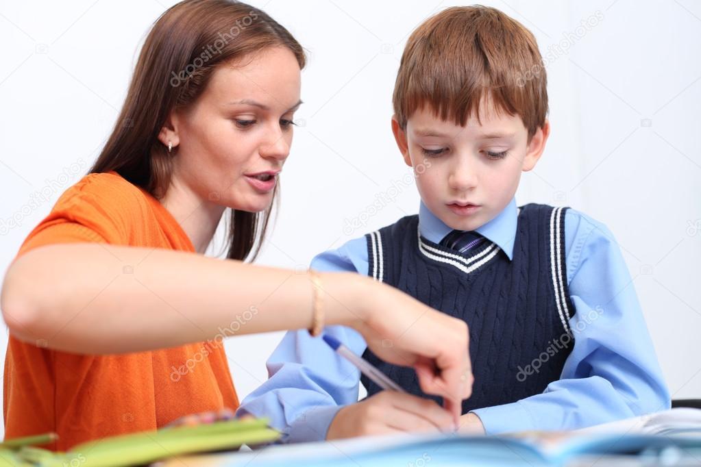 Lesbische leraar en moeder