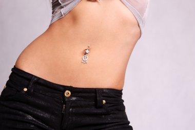 piercing in the navel