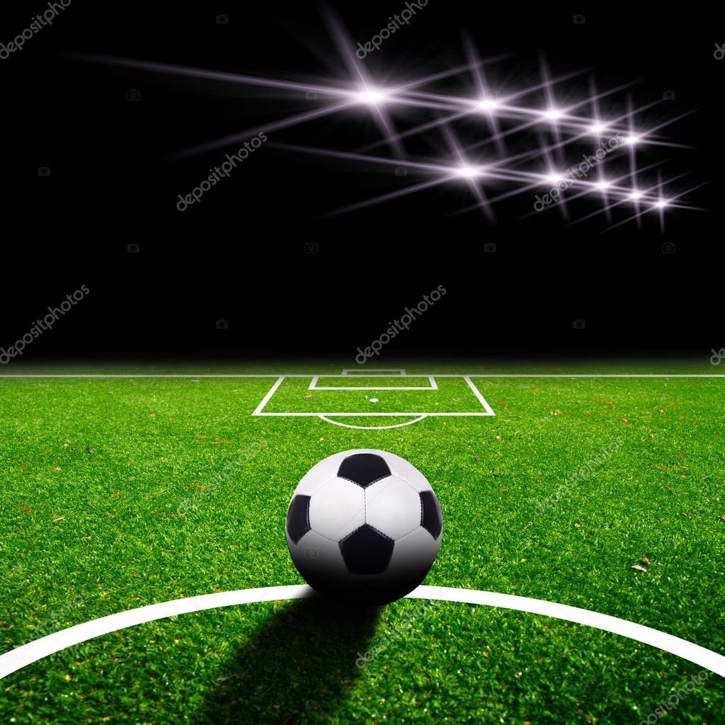 voetbalveld met licht — Stockfoto © jonson #19567541