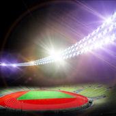 Fotografie fotbalový stadion s jasnými světly