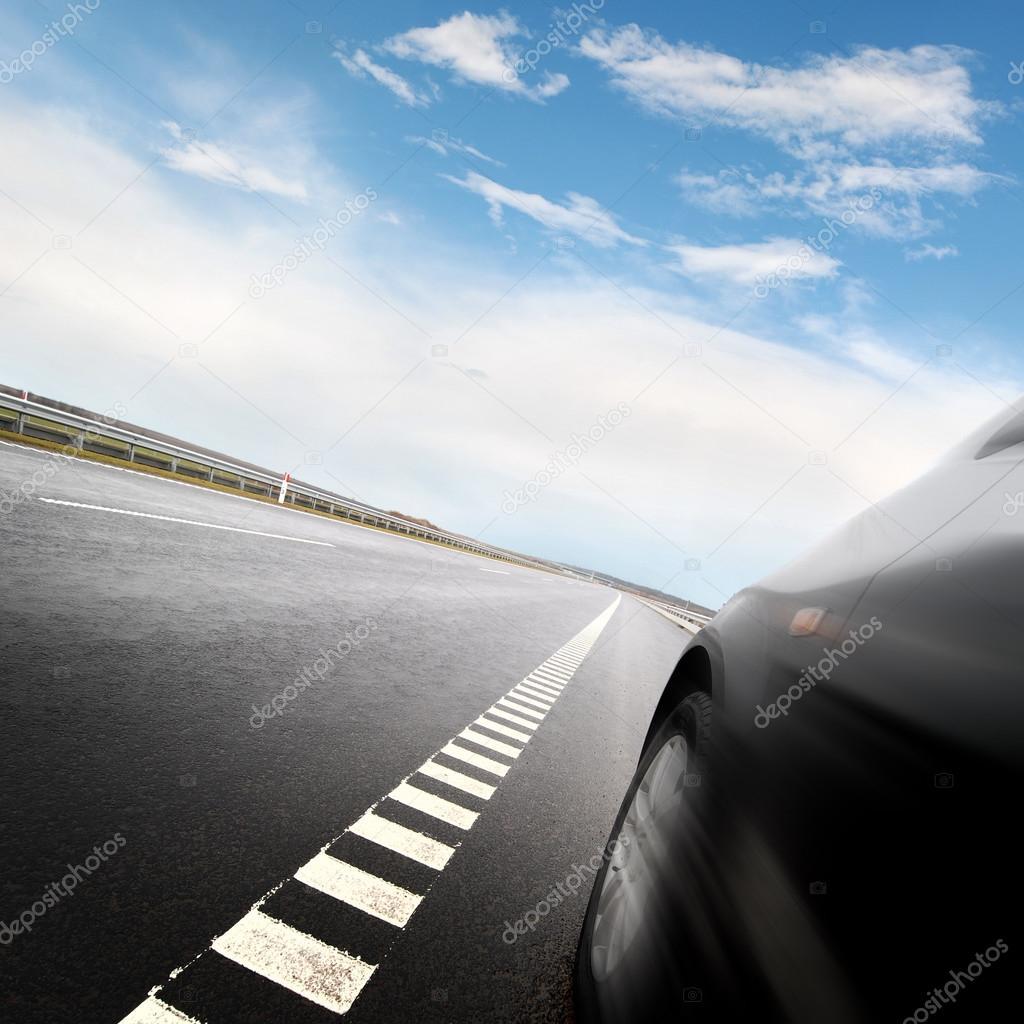 Car on the european autoban
