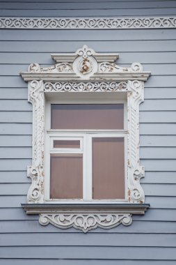 Russian national wooden architrave