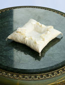 Fotografie White pillow for wedding rings