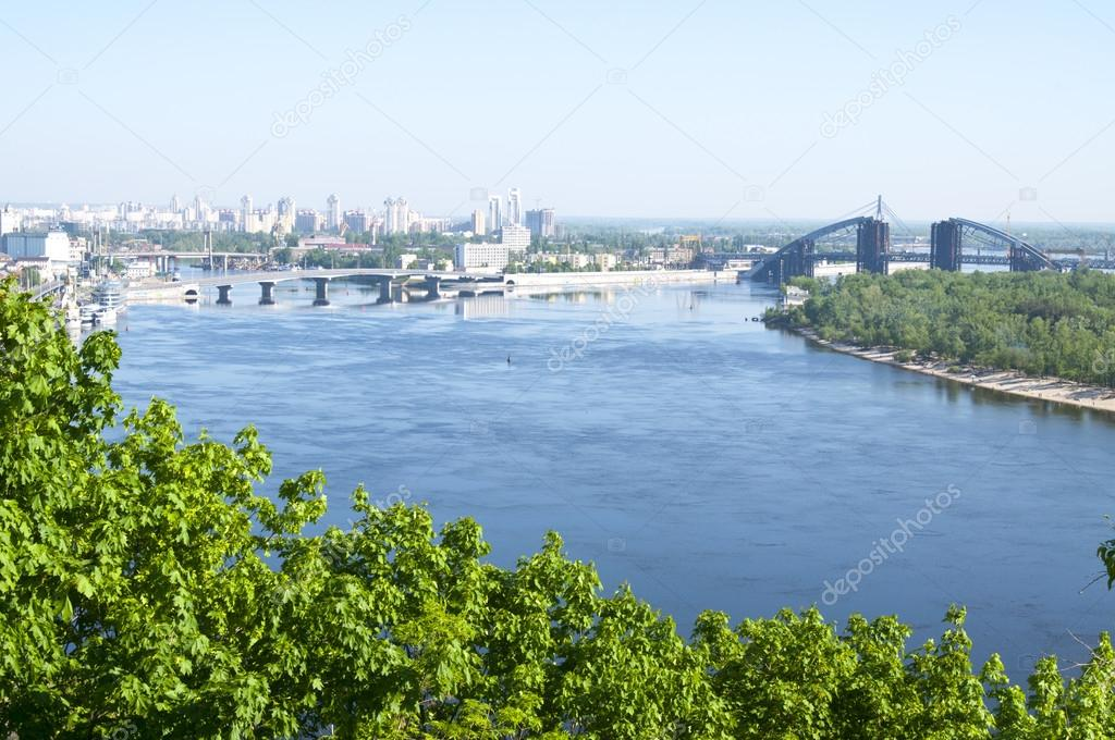 View of Dnipro river, Kiev