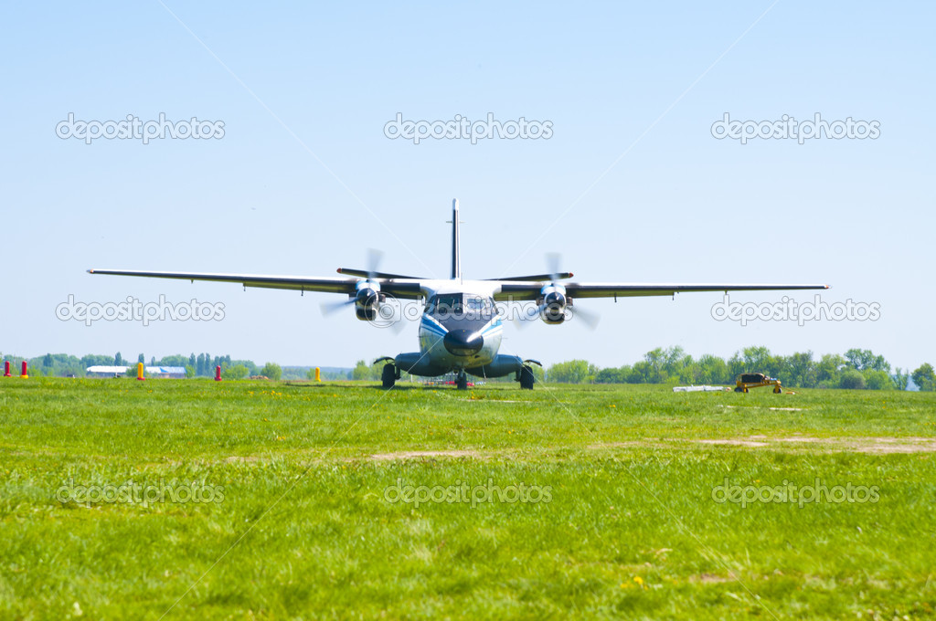Aircraft L-410 at airfield